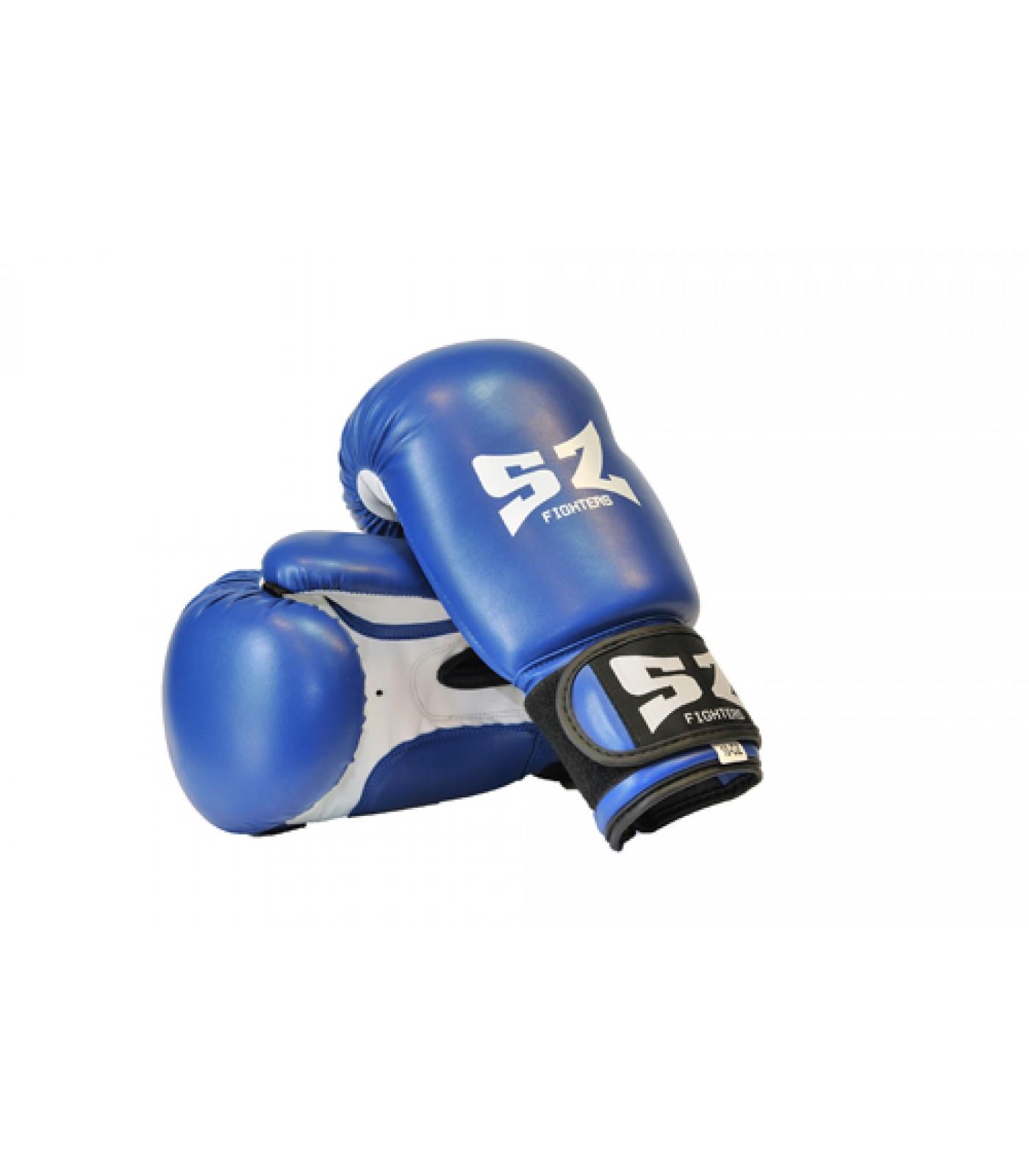 SZ Fighters - Боксови ръкавици (Изкуствена кожа) - син цвят