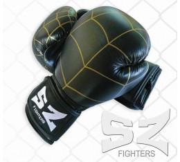 SZ Fighters - Боксови ръкавици (Естествена кожа) - паяжина Бойни спортове и MMA, Боксови ръкавици