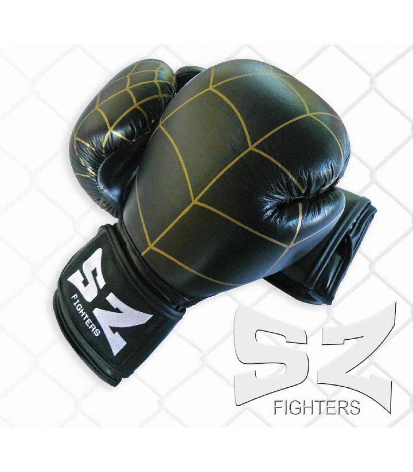 SZ Fighters - Боксови ръкавици (Естествена кожа) - паяжина