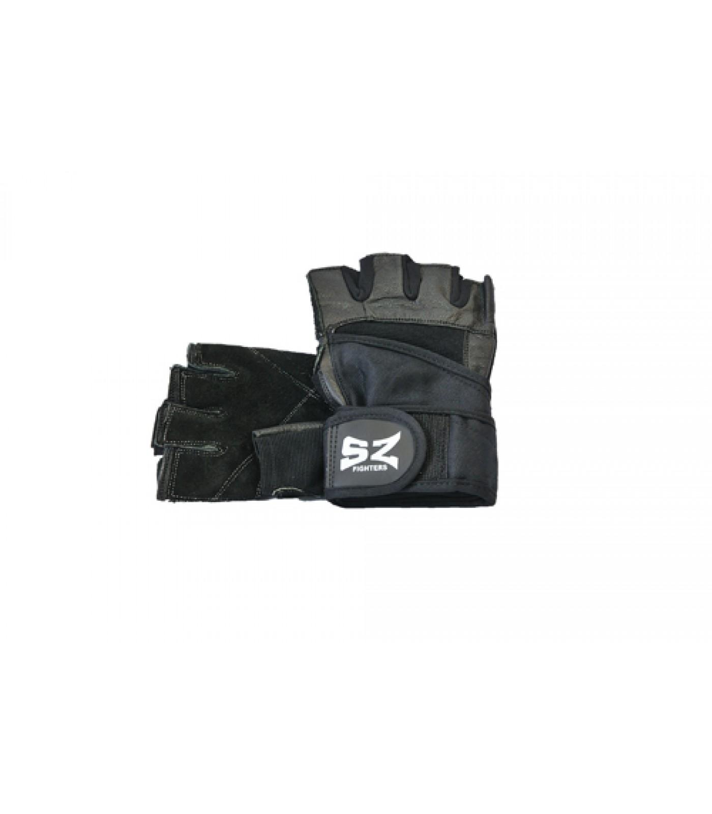 SZ Fighters - Фитнес ръкавици с накитник - черни