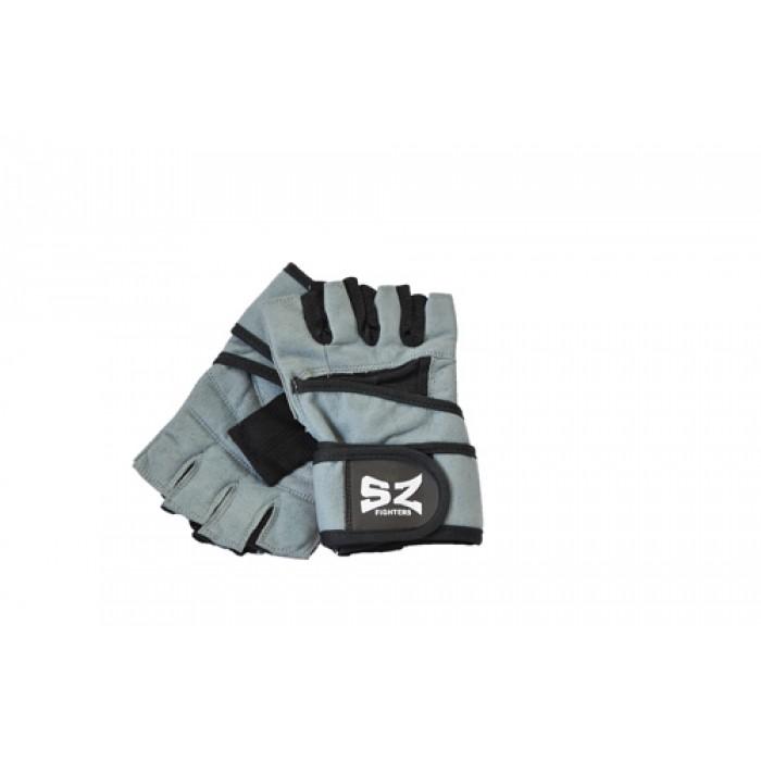 SZ Fighters - Фитнес ръкавици с накитник - Сив цвят