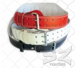 SZ Fighters - Фитнес колан от кожа - 15 см. - черен Фитнес аксесоари, Тренировъчни колани