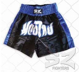 SZ Fighters - Шорти за Муай Тай / черно-син цвят Спортни облекла и Дрехи, Къси гащета