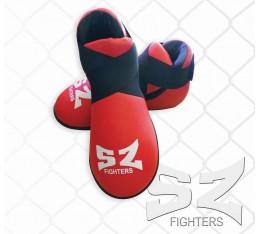 SZ Fighters - Обувки за карате - червени Бойни спортове и MMA, Протектори за крака