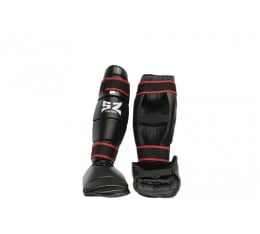 SZ Fighters - Протектори за крака - кожени / черни Бойни спортове и MMA, Протектори за крака