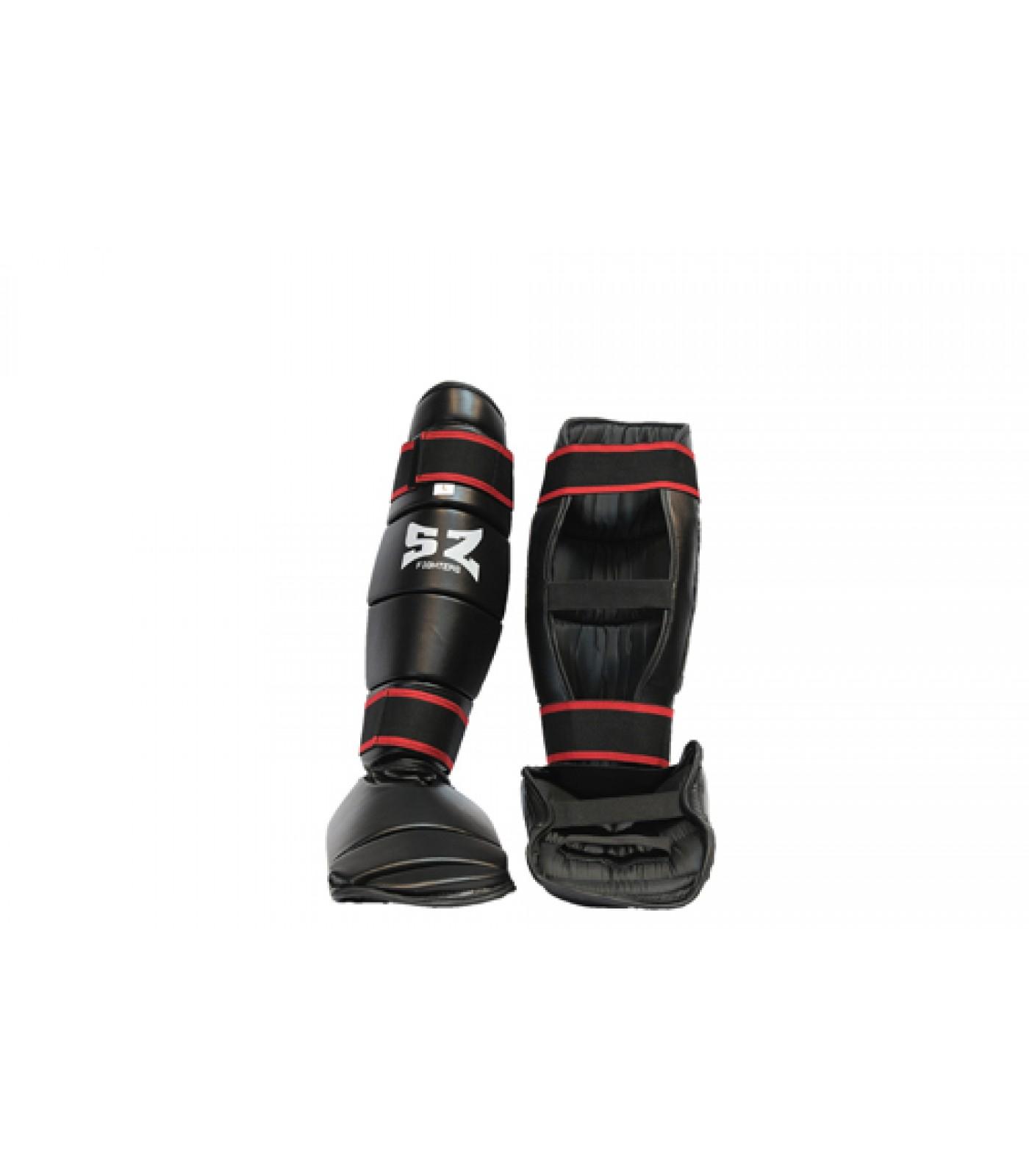 SZ Fighters - Протектори за крака - кожени / черни