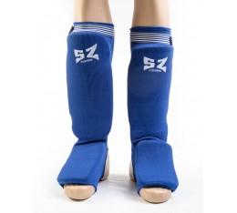 SZ Fighters - Протектор за крака (Памучни / сини) Бойни спортове и MMA, Протектори за крака