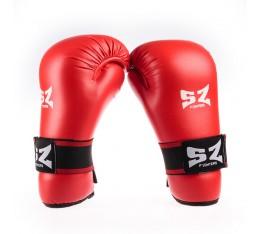 SZ Fighters - Ръкавици за Таекуондо - Червени Бойни спортове и MMA, Карате ръкавици
