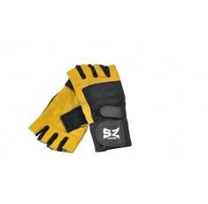 SZ Fighters - Фитнес ръкавици с накитник - жълто/черни Фитнес аксесоари, Мъжки ръкавици за фитнес