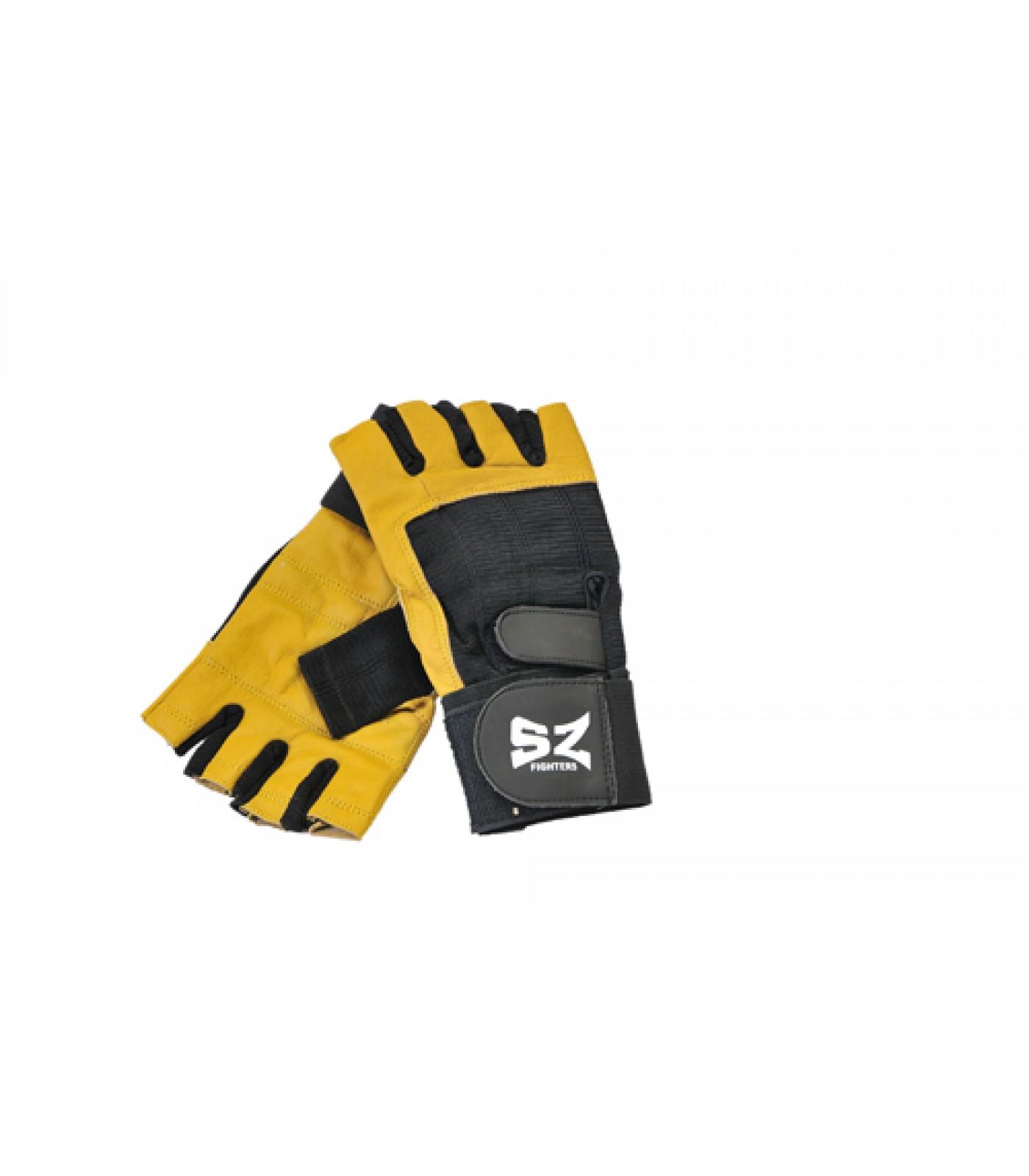 SZ Fighters - Фитнес ръкавици с накитник - жълто/черни