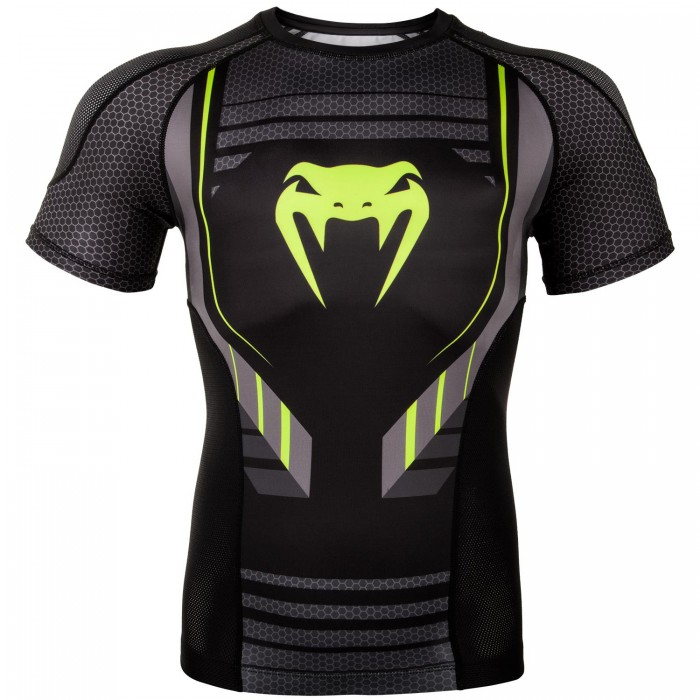 Рашгард - Venum Technical 2.0 Rashguard - Short Sleeves - Black/Yellow​