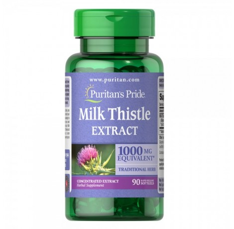 Puritan's Pride - Milk Thistle 4:1 Extract  / 1000 мг - 90 дражета​