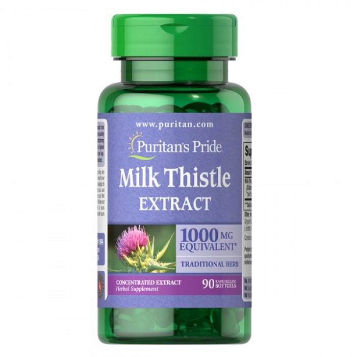 Puritan's Pride - Milk Thistle 4:1 Extract  / 1000 мг - 90 дражета