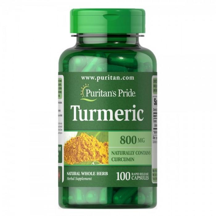 Puritan's Pride - Turmeric 800 мг / 100 капсули