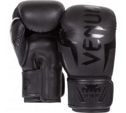 БОКСОВИ РЪКАВИЦИ - VENUM ELITE BOXING GLOVES / BLACK MATTE Боксови ръкавици