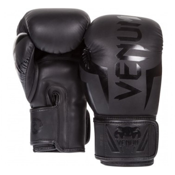 БОКСОВИ РЪКАВИЦИ - VENUM ELITE BOXING GLOVES / BLACK MATTE​