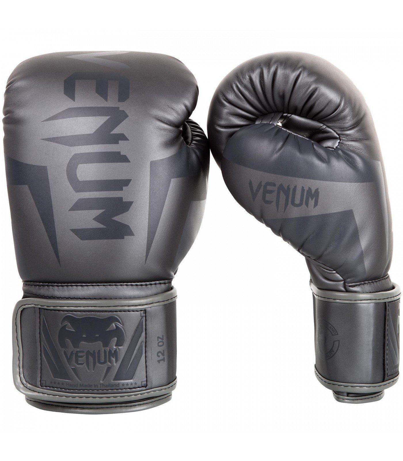 Боксови Ръкавици - VENUM ELITE BOXING GLOVES - GREY/GREY