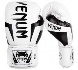 Боксови Ръкавици - VENUM ELITE BOXING GLOVES - WHITE/BLACK Боксови ръкавици
