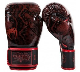 Боксови Ръкавици - VENUM FUSION BOXING GLOVES - RED/BLACK​