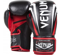 Боксови ръкавици - VENUM SHARP BOXING GLOVES - NAPPA LEATHER BLACK/ICE/RED  Боксови ръкавици