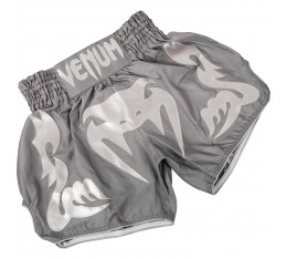 Муай Тай Шорти - Venum Bangkok Inferno Muay Thai Shorts-Grey/Grey​ Къси гащета
