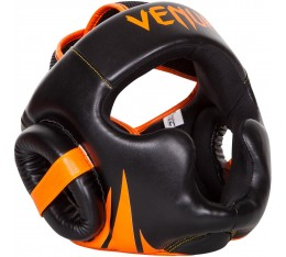 Протектор за глава /каска/ -  VENUM CHALLENGER 2.0 HEADGEAR  NEO ORANGE / Black​ Протектори за глава