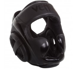 ПРОТЕКТОР ЗА ГЛАВА / КАСКА - VENUM ELITE HEADGEAR BLACK / MATTE​ Протектори за глава