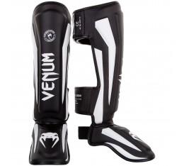 Протектори за крака - VENUM ELITE STANDUP SHINGUARDS - BLACK/WHITE Протектори за крака