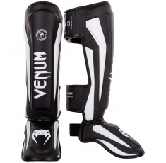 Протектори за крака - VENUM ELITE STANDUP SHINGUARDS - BLACK/WHITE​