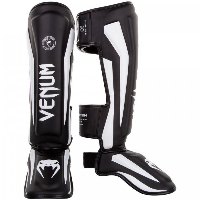Протектори за крака - VENUM ELITE STANDUP SHINGUARDS - BLACK/WHITE