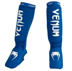 Протектори за крака - VENUM KONTACT SHINGUARDS AND INSTEP - COTTON / BLUE​