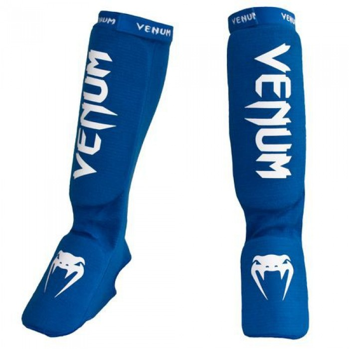 Протектори за крака - VENUM KONTACT SHINGUARDS AND INSTEP - COTTON / BLUE