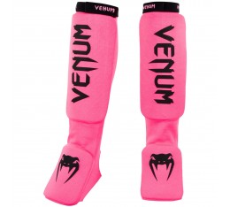 Протектори за Крака - VENUM KONTACT SHINGUARDS AND INSTEP - COTTON / FLUO PINK​