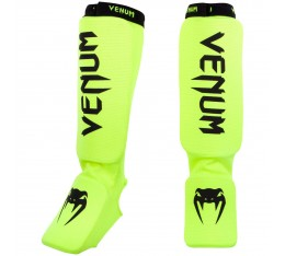 Протектори за Крака - VENUM KONTACT SHINGUARDS AND INSTEP - COTTON / FLUO YELLOW Протектори за крака