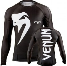 "РАШГАРД - VENUM ""GIANT"" RASHGUARD - BLACK - LONG SLEEVES​"