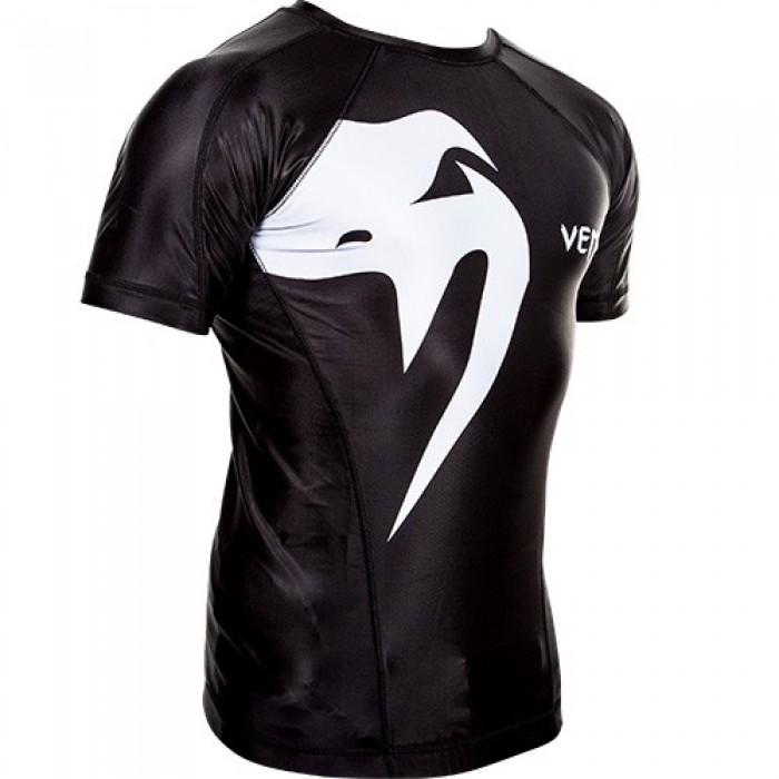 РАШГАРД - VENUM GIANT RASHGUARD - SHORT SLEEVES / BLACK​