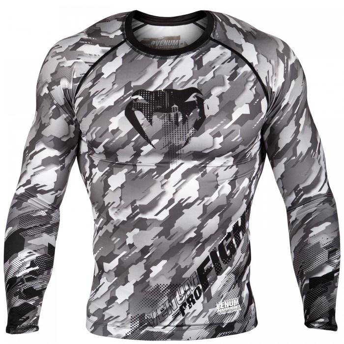Рашгард -Venum Tecmo Rashguard Long Sleeves - Black/Grey