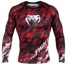Рашгард - Venum Tecmo Rashguard Long Sleeves - Red/White​