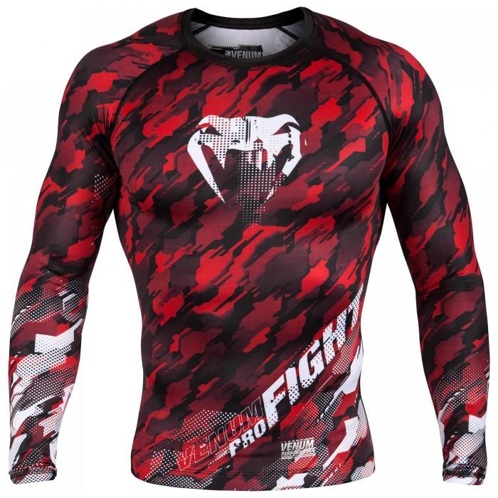 Рашгард - Venum Tecmo Rashguard Long Sleeves - Red/White