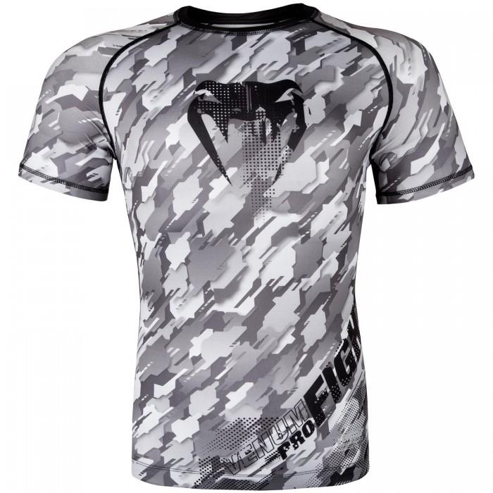 Рашгард - Venum Tecmo Rashguard Short Sleeves - Black/Grey