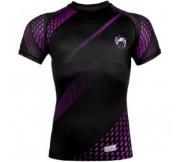 Рашгард - VENUM RAPID RASHGUARD - SHORT SLEEVES/  BLACK/PURPLE​ Рашгарди