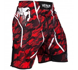 Шорти - Venum Tecmo Fightshorts - Red/White Къси гащета