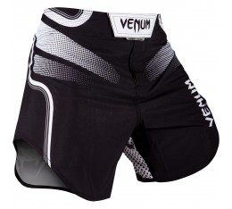 Шорти - VENUM TEMPEST 2.0 FIGHTSHORTS - BLACK/WHITE​ Къси гащета