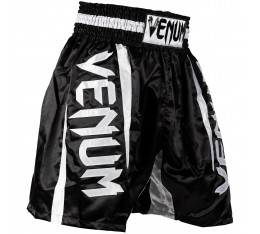 Шорти за Бокс - VENUM ELITE BOXING SHORTS BLACK/WHITE ​ Къси гащета