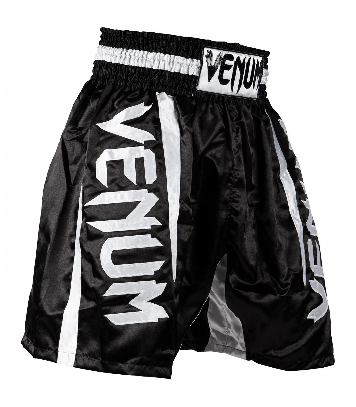 Шорти за Бокс - VENUM ELITE BOXING SHORTS BLACK/WHITE ​