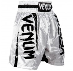 Шорти за Бокс - VENUM ELITE BOXING SHORTS WHITE / BLACK​