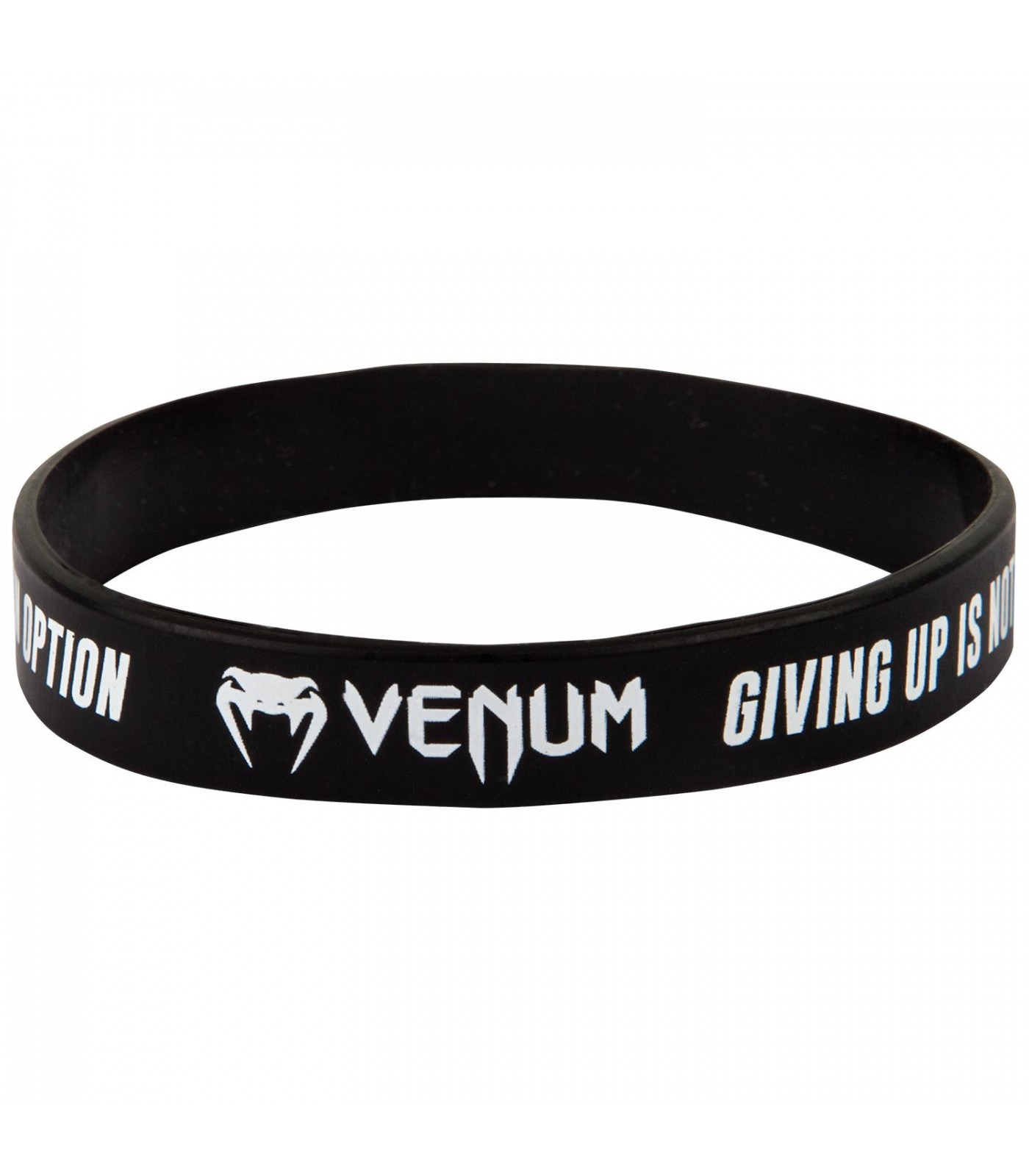Силиконова Гривна - VENUM RUBBER BAND - GIVING UP - BLACK​