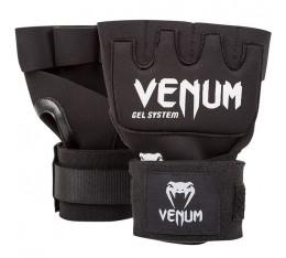 Вътрешни Ръкавици за Боксови Ръкавици - VENUM KONTACT GEL GLOVE WRAPS / BLACK Боксови ръкавици, Бинтове