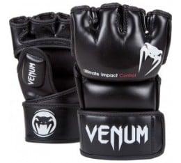 ММА ръкавици - VENUM - IMPACT MMA GLOVES - BLACK - SKINTEX LEATHER MMA/Граплинг ръкавици
