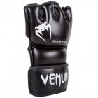 ММА ръкавици - VENUM - IMPACT MMA GLOVES - BLACK - SKINTEX LEATHER​